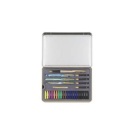 Staedtler® 5-Nib Calligraphy Set, Assorted Points, Assorted Barrels, Assorted Ink Colors