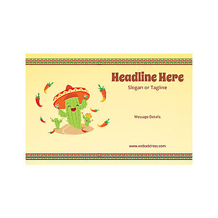Custom Poster, Horizontal, Mexican Cactus Hat