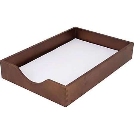 Carver Walnut Finish Solid Wood Desk Trays - Desktop - Walnut - Oak - 1Each
