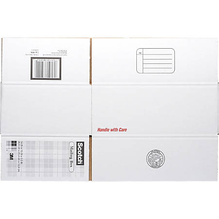 "Scotch® Mailing Box, 14"" x 10"" x 5 1/2"", White"