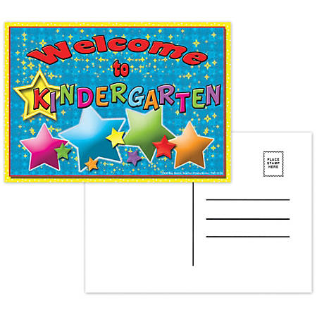 """Top Notch Teacher Products Welcome To Kindergarten Postcards, 4 1/2"""" x 6"""", Multicolor, 30 Postcards Per Pack, Bundle Of 12 Packs"""