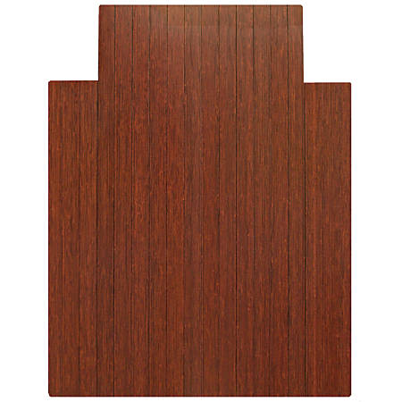 "Anji Mountain Bamboo Roll-Up Chair Mat, 36"" x 48"", 1/4""-Thick, 9 1/4"" Tongue, Dark Cherry"