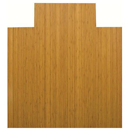 "Anji Mountain Bamboo Roll-Up Chair Mat, 44"" x 52"", 1/4""-Thick, 9 1/4"" Tongue, Natural"