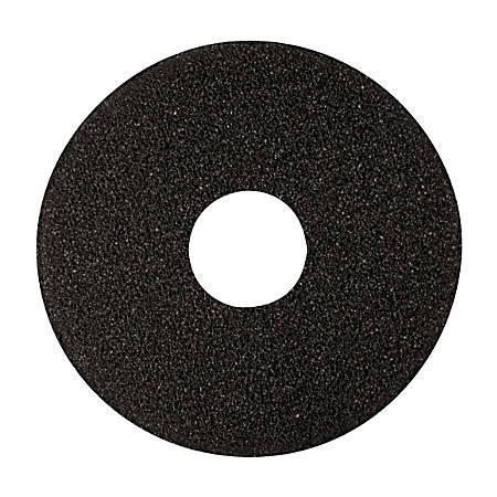 """Niagara™ 7400N Stripping Floor Pad, High-Performance, 17"""" Diameter, Black, Pack Of 5"""