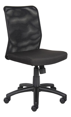 Boss Office Products B6105 Budget Mesh Task Chair Without Arms in Black
