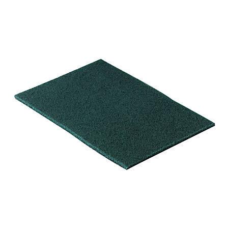 "3M™ Niagara™ 96N Medium-Duty Scouring Pads, 6"" x 9"", Green, 10 Pads Per Pack, Box Of 10"