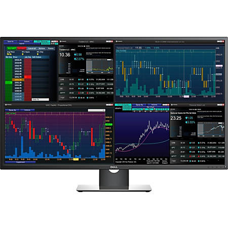"Dell P4317Q 43"" 4K UHD Edge LED LCD Monitor - 16:9 - Black - 3840 x 2160 - 350 Nit - 8 ms - HDMI - VGA - DisplayPort"