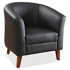 Lorell Barrel Club Armchair Bonded Leather