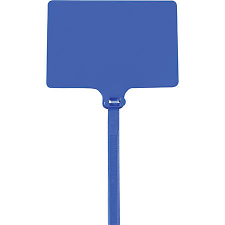 "Office Depot® Brand Identification Cable Ties, 9"", Blue, Case Of 100"