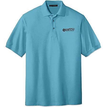 Custom Men's Pique Embroidered Polo Shirt