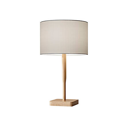 """Adesso® Ellis Table Lamp, 21""""H, White Shade/Brown Base"""