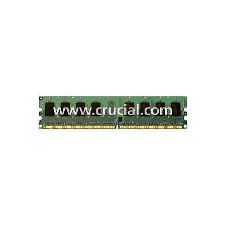 Crucial 2GB DDR2 SDRAM Memory Module - 2GB - 800MHz DDR2-800/PC2-6400 - Non-ECC - DDR2 SDRAM - 240-pin DIMM