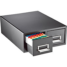 Major Metalfab 16 Card File Box