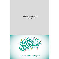 Flat Photo Greeting Card Multi Merry