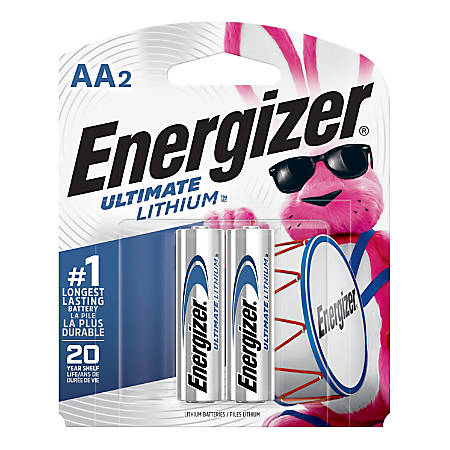 Energizer® Photo Ultimate Lithium AA Batteries, Pack Of 2