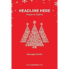 Custom Poster Red Christmas Vertical