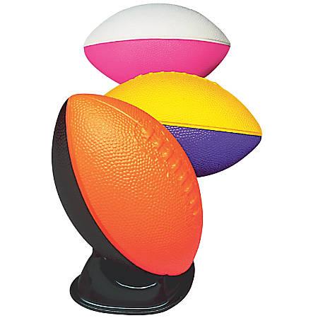 "Poof Products Foam Pro Mini Footballs, 7""H x 4 1/2""W x 4 1/2""D, Assorted Colors, Pack Of 6 Footballs"