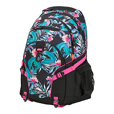 High Sierra® Loop Backpack, Tropic Nights/Black/Flamingo