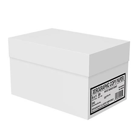 Xerographic Copy Paper, Letter Paper Size, 92 Brightness, 20 Lb, White, 500 Sheets Per Ream, Case Of 10 Reams