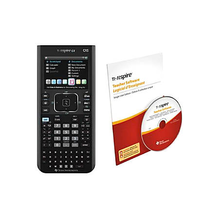 texas instruments ti nspire cx cas handheld office depot. Black Bedroom Furniture Sets. Home Design Ideas