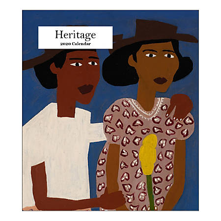 "Retrospect Heritage Monthly Desk Calendar, 6-1/4"" x 5-1/2"", January To December 2020, YCD 070-20"