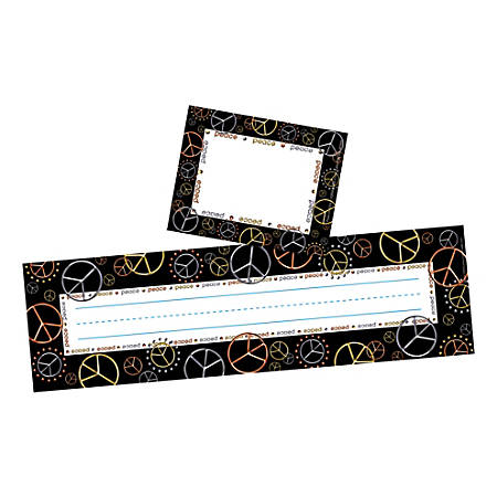 Barker Creek Name Tag And Name Plate Set, Peace