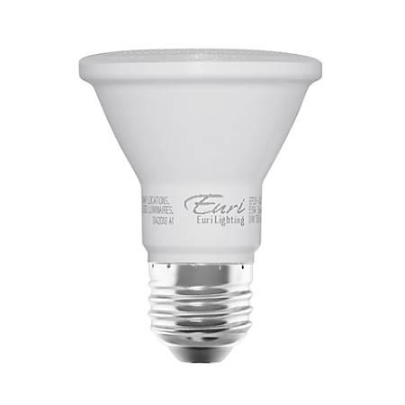 Euri PAR20 4000 CEC Series LED Flood Bulbs, Dimmable, 500 Lumens, 5.5 Watt, 2700K/Soft White, Pack Of 2 Bulbs