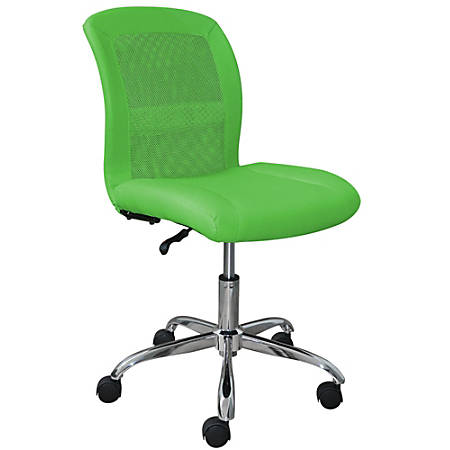 Serta Essentials Faux Leather Mid-Back Computer Chair, Creativity Lime/Chrome