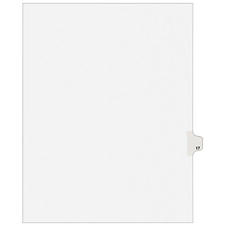 """Avery® 20% Recycled Avery-Style Collated Legal Index Exhibit Dividers, 8 1/2"""" x 11"""", White Dividers/White Tabs, 17, Pack Of 25"""