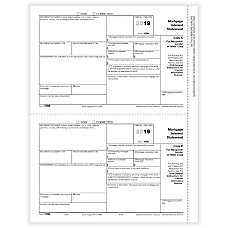 ComplyRight 1098 Tax Forms Laser RecipientLender
