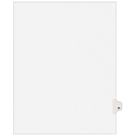 "Avery® Avery-Style Collated Legal Index Exhibit Dividers, 8 1/2"" x 11"", White Dividers/White Tabs, 21, Pack Of 25"
