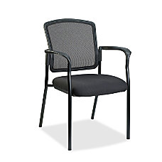 Lorell MeshFabric Guest Stack Chair Black