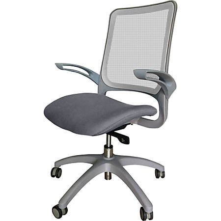 Lorell® Vortex Self-Adjusting Weight-Activated Task Chair, Gray