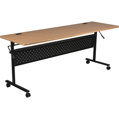 Lorell Flipper Training Table Rectangle Teak By Office Depot OfficeMax - Lorell flipper training table