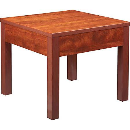 "Lorell® Occasional Square Corner Table, 24""W, Cherry"