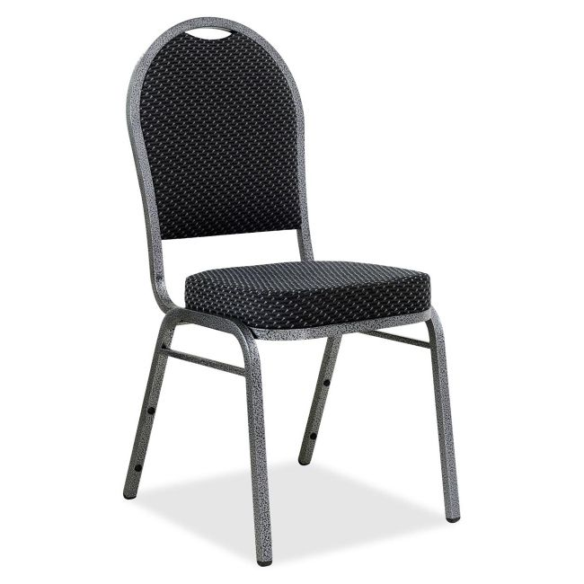 Lorell Banquet Stack Chair Textured Fabric BlackGray Set Of 4 By Office  Depot U0026 OfficeMax