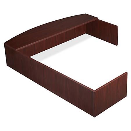Lorell® Essentials Series L-Shaped Reception Counter, Mahogany