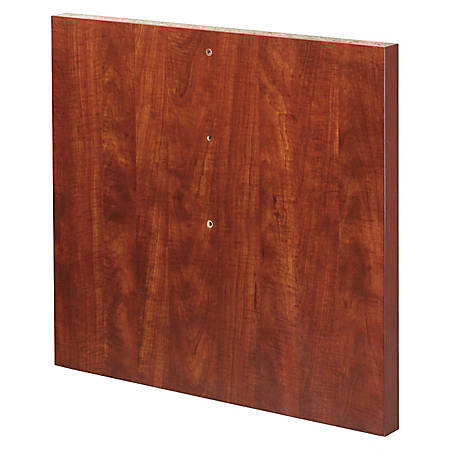 """Lorell Modular Cherry Conference Straight Table Base - Straight Base x 27.13"""" Width x 2"""" Depth - Assembly Required - Cherry, Laminated, Melamine - Chipboard, Medium Density Fiberboard (MDF)"""