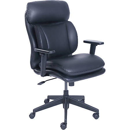 """Lorell InCite Task Chair - Bonded Leather Black Seat - Bonded Leather Black Back - 5-star Base - 21"""" Seat Width x 18.25"""" Seat Depth - 27.5"""" Width x 26.8"""" Depth x 42.5"""" Height"""