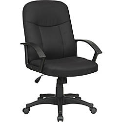Lorell Executive Fabric Mid Back Chair