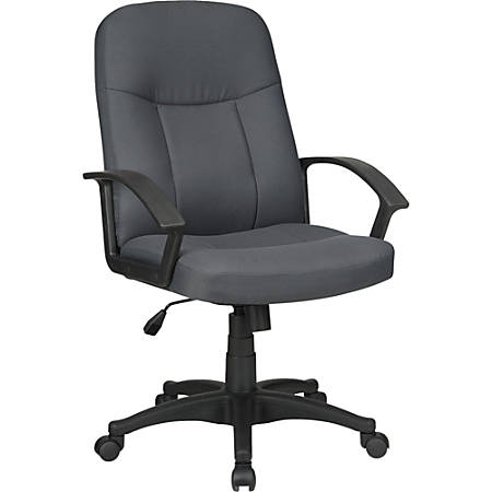 Lorell® Executive Fabric Mid-Back Task Chair, Gray
