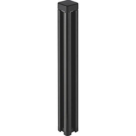 "Lorell Desktop Panel System Post - 1.6"" Width x 1.6"" Depth x 12.4"" Height - Black"