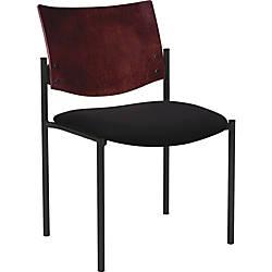 Lorell WoodVinyl Guest Chair Black Set