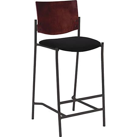 """Lorell® Cafe Barstool, Wooden Back, 42""""H, Mahogany"""