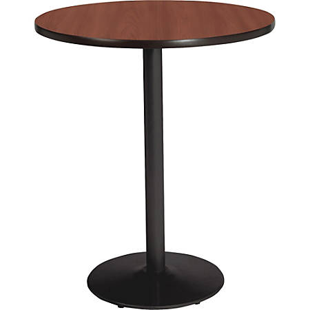 """Lorell® Bistro-Height Round Table, 36""""W, Mahogany"""