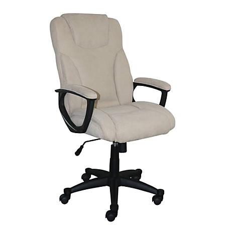 Serta Style Hannah II High-Back Office Chair, Fabric, Harvard Beige/Black
