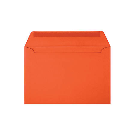 "LUX Booklet Envelopes With Moisture Closure, #6 1/2, 6"" x 9"", Tangerine, Pack Of 500"