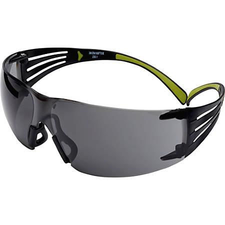 3M SecureFit Protective Eyewear - Ultraviolet Protection - Polycarbonate Lens - Gray - 1 Each