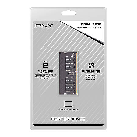 PNY 32GB DDR4 RMA Notebook Memory, MN32GSD42666