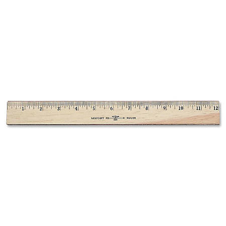 Westcott® Wood Ruler, Double Edge, 12""